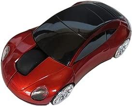 MOJO Porsche Car Optical Wireless Silent Mouse (Red)