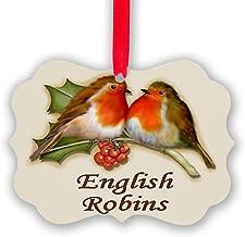 CafePress English Robins & Holly Christmas Ornament, Decorative Tree Ornament
