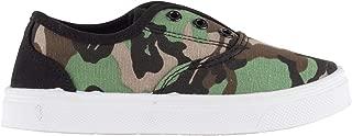 Oomphies Robin Boys Sneakers - Slip On - No Lace Kids Tennis Shoe - Camo