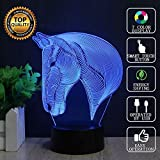 3D LED lampe de nuit, Colorful Forme Magical Illusion 3D Lampe, Chambre Décoration...
