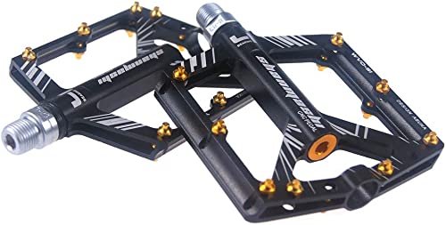 hasta un 50% de descuento AKBQ AKBQ AKBQ Pedal De Bicicleta, Cuerpo De Aleación De Aluminio Mecanizado CNC 8 Piezas De Rodamientos Sellados, Pedales De Bicicleta De Ciclismo MTB BMX 9 16 Eje CR-Mo  más descuento