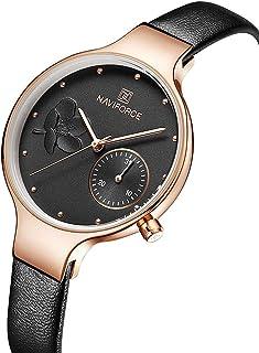 Womens Leather Band Waterproof Wrist Watches