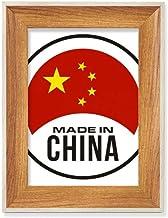 China Round National Chinese Desktop Moldura de madeira para fotos de mesa, vários conjuntos