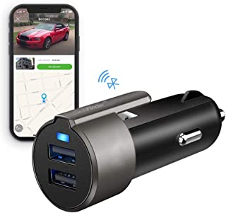SwiftFinder Smart Car Charger,APP Control Bluetooth Tracker Car Locator, 2 USB Ports Fast Charger Built-in Window Breaker and Seatbelt Cutter Compatible with iPhone 11/XS/Max/XR/X/8/7/6/Plus