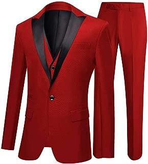 One Button 3 Pieces Green Wedding Suits Notch Lapel Men Suits Groom Tuxedos