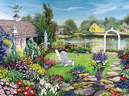 White Mountain Puzzles by The Pond - 1000 Piece Jigsaw Puzzle