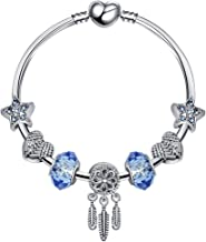 Aisence 19cm Charms Bracelet Pandora Style Jewelry Woman Dreamcatcher Charms Woman Jewelry