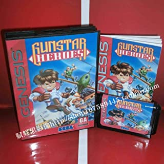 Value★Smart★Toys - Gunstar Heroes with Box and Manual 16bit MD Game Card for Sega Mega Drive /Genesis