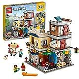 LEGO Creator 3 in 1 Negozio degli Animali & Café, Costruzioni con 3 Minifigure e Figure di Cane, Tucano e Topo, Gioco per Bambini di 9+ Anni, 31097
