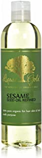 12 Fl.oz Premium Liquid Gold Sesame Oil Refined Pure & Organic Skin Hair Nails Health