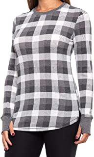 Cuddl Duds Buffalo Check Stretch Thermal Shirt - Long Sleeve - Crew Neck (for Women)