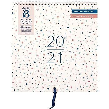 Calendario familiare Busy B metà anno Agosto 2020   Agosto 2021