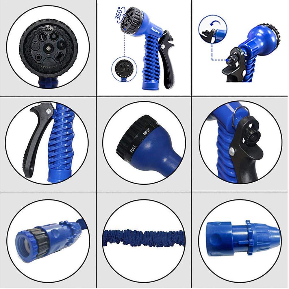 150FT magic water hose pipe retractable flexible compact /& Spray Head Car Spray