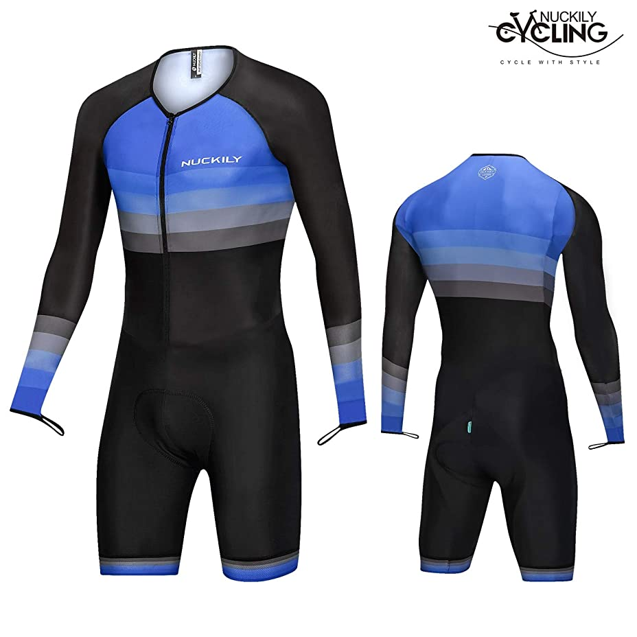 指令インデックスシエスタNUCKILY トライアスロンスーツ メンズ レーシング トライサイクリング スキンスーツ バイク 水泳 ラン