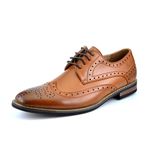 8162e214bcd32 DREAM PAIRS Bruno Marc Moda Italy Men's Prince Classic Modern Formal Oxford  Wingtip Lace Up Dress