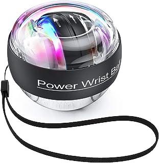 TimeSport Upgraded Auto-Start Power Wrist Ball Spinner Gyro Hand Grip Strengthener Wrist Forearm Exerciser with LED Lights