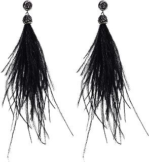 Feather Long Dangle Earring Charm Feather Earrings Women Girls