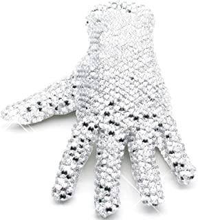 MJ Michael Shining Crystal Billie Jean Glove Double Sides Rhinestone Gloves
