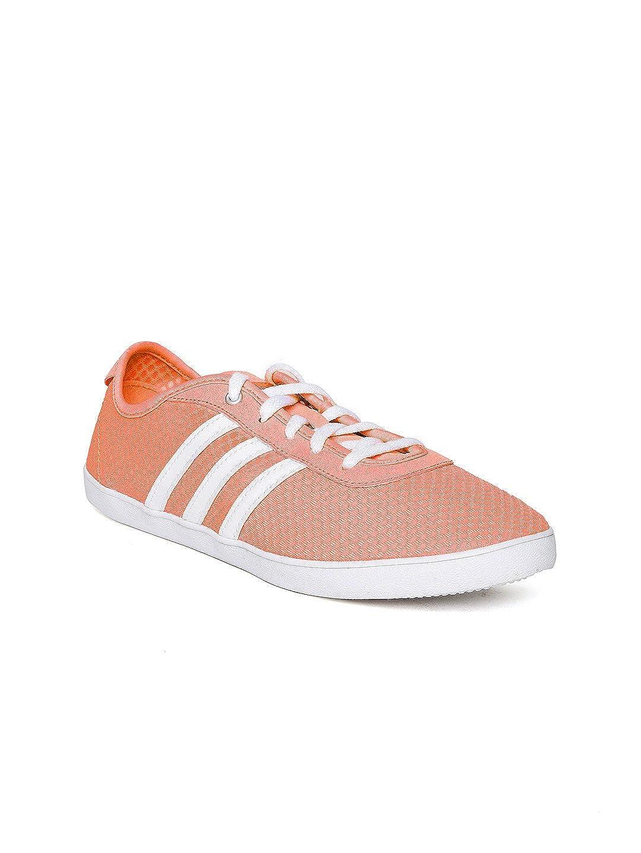 Buy Adidas NEO Women Neon Orange VS QT Vulc Sneakers (5UK) at ...