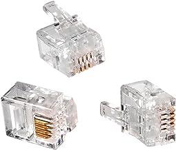 Maclean MCTV-665 - Conector para Redes de Telefonía RJ11 (6p4c) (100 piezas cada paquete)
