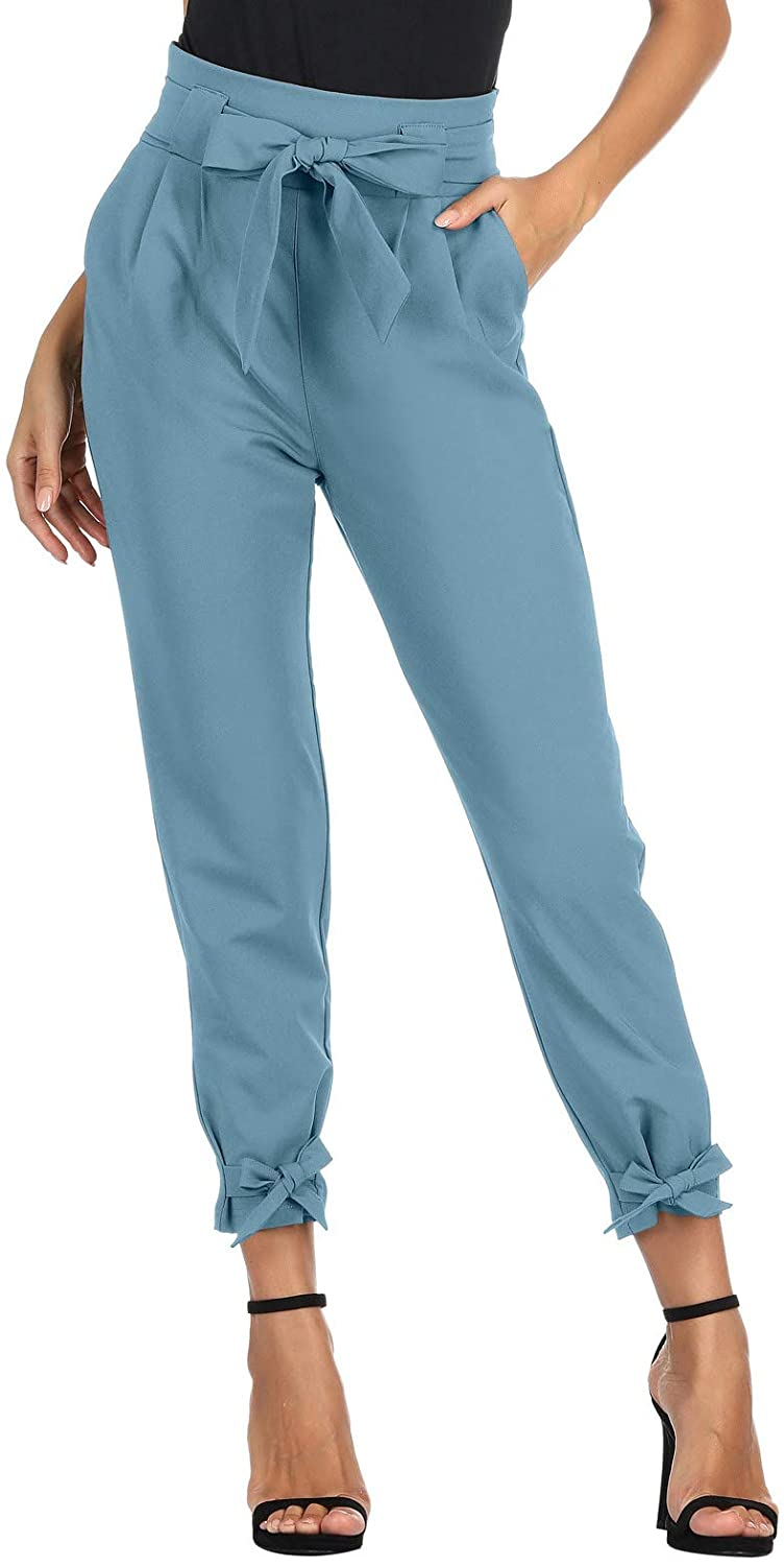 GRACE KARIN Womens Casual High Pants with Our shop most popular Bow-Knot Waist Pencil Indianapolis Mall