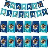 Miotlsy Paw Patrol Bolsas Regalo Cumpleaños Bolsas de Papel para Chuches para Fiestas de Cumpleaños, Bodas, Navidad
