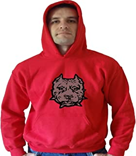 Up For Anything Pitbull, Unisex Hoodie Small, Red