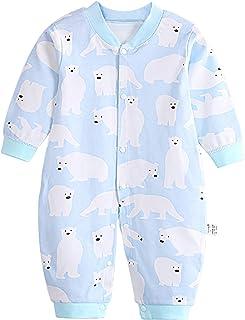 JinBei Baby Strampler Jungen Mädchen Schlafanzug Baumwolle Langarm Cartoon Schlafsack Neugeborenes Overalls Pyjamas Säugling Spielanzug Baby-Nachtwäsche 0-12 Monate