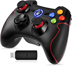 PS3 Dualshock Gaming Controller, EasySMX Wireless 2.4G Gamepads with Vibration Fire Button Range up to 10m Support PC (Win...