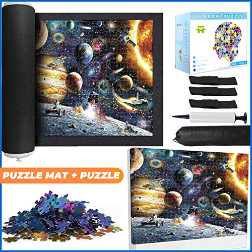 Jigsaw Puzzle Mat Roll Up 2000 Pieces with...