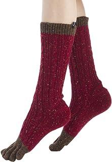 Knitido, Plus Sakura, Calcetines de Dedos Cálidos para Mujer, Yoga y Pilates