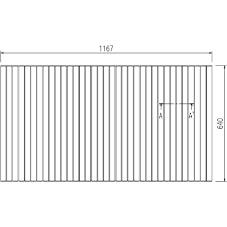 LIXIL INAX 風呂巻フタ 幅1,167×奥行640mm:BLS64117-K (風呂ふた、フロふた、風呂蓋)