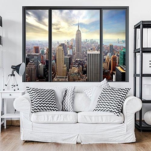 decomonkey | Optische Täuschung | Weitblick Fensterblick 3D Wandillusion ca 140x100 cm Wandbild Fototapete Tapete Poster XXL Vlies Leinwand Bilder DekorationTOC0082aM
