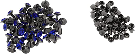 Hundehalsband und Jeans Gürtel 50 Sets Kristallnieten für Tasche Jacke