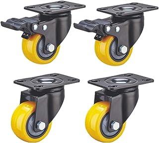 Auoeer 4 Roues Meubles roulettes industrielles avec Frein Universel pivotant Chariot Plaque de Rechange de Transport roule...