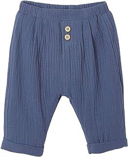 Vertbaudet Pantalon Coupe Sarouel en Gaze de Coton bébé garçon