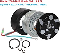 HENUO AC A/C Compressor Clutch Coil Assembly Repair Kit Replacement for 2006 2007 2008 2009 2010 2011 Honda Civic 1.8L(Replace # 80221SWAA02 38810RRBA01 4918U1)