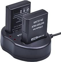 PowerTrust 2-Pack EN-EL14 EN-EL14A Battery and Dual USB Charger for Nikon D5600 D5500 D5300 D5200 D5100 D3500 D3400 D3300 D3200 D3100 Df Coolpix P7800 P7700 P7200 P7100 P7000