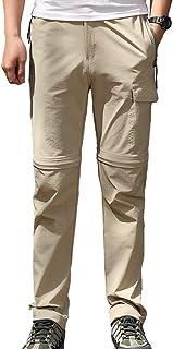 Aufgevals Men's Outdoor Stretch Convertible Hiking Pants UPF 50+ Quick Dry Cargo Pants