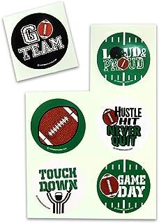 Foot12  1 Aufkleber  American Football Footballspieler Sticker Sport Folie 20 cm