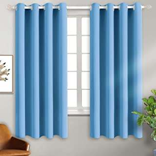 BGment Blackout Curtains - Grommet Thermal Insulated Room Darkening Bedroom and Living Room Curtain, Set of 2 Panels (52 x 63 Inch, Sky Blue)
