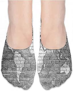 Funny Socks For Girl Wanderlust,World Map on Old Brick,socks men pack ankle
