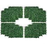uyoyous 12 unidades de setos artificiales colgantes plantas 40 x 60 cm pared plantas plantas plantas pared protección UV para casa habitación jardín boda guirnalda exterior decoración – verde oscuro