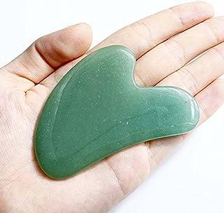 Echo & Kern Face / Body Massage Green Aventurine heart shape ハート形状かっさプレート 天然石 翡翠色(顔?ボディのリンパマッサージ) (かっさプレートH)