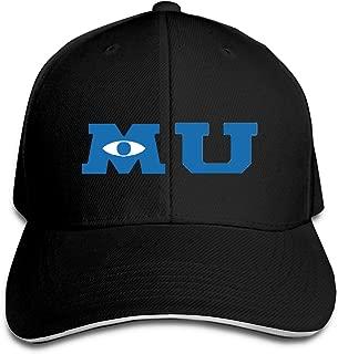 Monsters University Merchandise Hip Hop Baseball Cap Golf Trucker Baseball Cap Adjustable Peaked Sandwich Hat Black