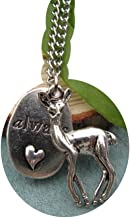 Deer, Always Necklace, Snape and Lily Patronus Necklace, Heart,Ancient silver