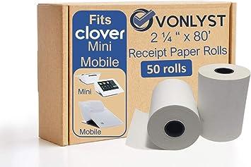 Clover Mini - 8 Rolls Paper for Clover POS