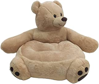 WJX Plush Toy Baby Sofa Bear Support Seat Learning Sitting For Soft Chair Cushion Babys Feeding Pillows Safe Animal Plush ...