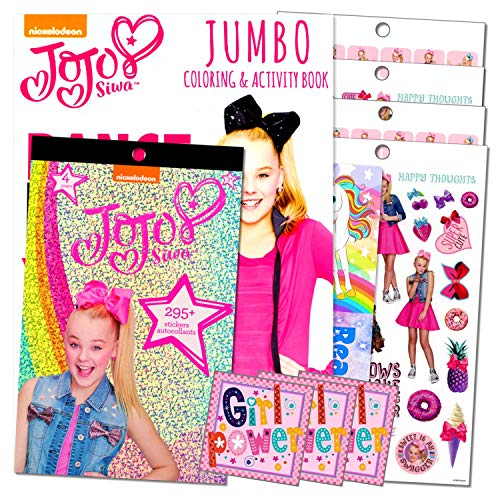 JoJo Siwa Dance Coloring Book with JoJo Sticker Pad Bundle Includes GWW Separately Licensed Reward Stickers and Bookmark for Girls