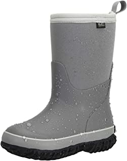 MCIKCC Kids Waterproof Rain Boots, High Snow Boots for Toddler Boys Girls, Textile Rubber Sole
